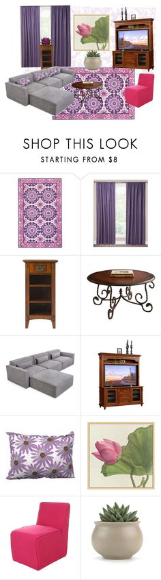 """living room love"" by cynthiahawthorne ❤ liked on Polyvore featuring interior, interiors, interior design, home, home decor, interior decorating, Home Decorators Collection, SIScovers, Steve Silver and Gus* Modern"