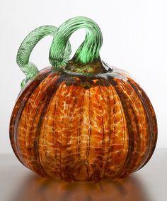 Look at this Rust Medium Pumpkin on #zulily today! @kitras art glass