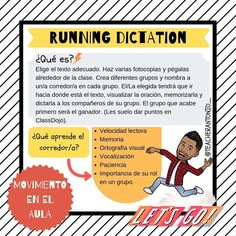 Image may contain: 1 person Class Games, Teaching Activities, Language Activities, Teaching Tips, Team Activities, Spanish Lessons, English Lessons, Learning Spanish, Spanish Class