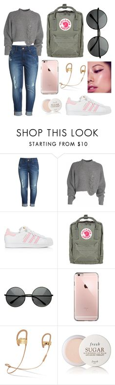 """""""Chrysanthemums second outfit"""" by maialeigh on Polyvore featuring Melissa McCarthy Seven7, adidas, Fjällräven and Fresh"""