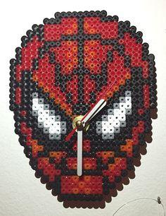 Spiderman clock hama beads by Daria DaMatti
