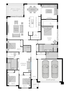 The Admiral Single-Storey Floor Plan The Plan, How To Plan, Bungalow Haus Design, House Design, Structural Steel Beams, Mcdonald Jones Homes, Balcony Flooring, Appartement Design, Parents Room