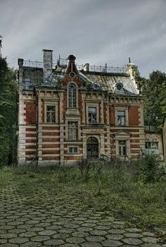Abandoned house in Sobotka Hill, Gdansk  Region, Poland.