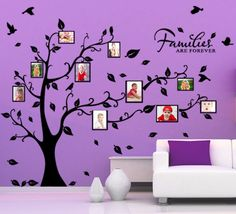 "Wall Art Decor Removable Vinyl Decal Sticker Family Photo Frame Tree 75""H 545"