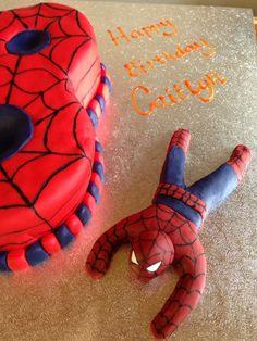 Fondant icing Spiderman :-)