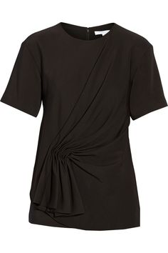 Alexander Wang Gathered stretch-crepe top