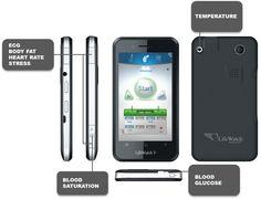 Sensors on the LifeWatchV smartphone