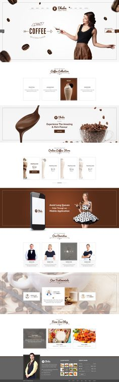 Business Themes for Creatives - Wordpress Business Themes - Ideas of Wordpress Business Themes - Business Themes for Creatives Design Café, Web Design Tips, Page Design, Food Design, Website Design Layout, Web Layout, Layout Design, Ecommerce, Template Web