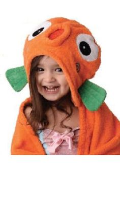 Zoocchini Sushi the Tropical Fish Hooded Towel