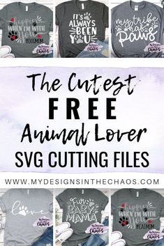Free Fur Mama SVG Cutting Files My Designs In the Chaos - Cricut T Shirts - Ideas of Cricut T Shirts - These SVG cutting files for dog moms and cat moms are adorable. They are great to use with your Silhouette and Cricut cutting machines. Cricut Air, Cricut Vinyl, Cricut Help, Cricut Monogram, Monogram Gifts, Vinyl Decals, Circuit Projects, Vinyl Projects, Vinyl Crafts