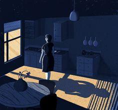 'Holding Loneliness' by Adam Hancher Illustration, via Flickr