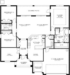Amazing floor plan of Glen Eagle II in The Sanctuary at theTampa Bay Golf and Country Club!