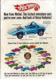 "Hot Wheels toy cars Introduced in 1968....MUCH faster than ""Matchbox"" cars"