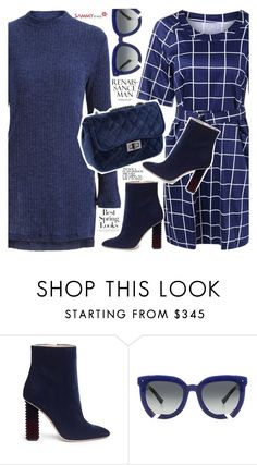 """Blue dresses"" by vanjazivadinovic ❤ liked on Polyvore featuring H&M, Aperlaï, Grey Ant, sammydress, longsleeve and polyvoreeditorial"
