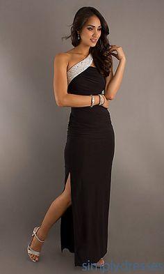 Floor Length One Shoulder Prom Dress at PromGirl.com