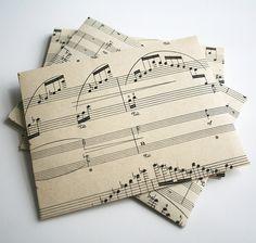 recycled sheet music envelopes