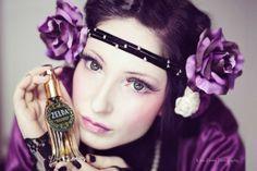 Model Sylvia Valeria in a perfume promotion US Photography: Klara Fowler Photography