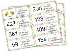 jeux de dominos sur la notion d'unité, dizaine, centaine