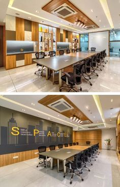 Led Light Fittings, Grey Floor Tiles, White Ceiling, Modular Furniture, Coworking Space, Ceiling Height, Small Office, Common Area, Office Interiors