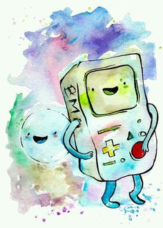 Adventure time: Bmo and Bubbles