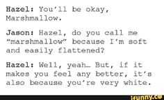 Oh my goodness I cant believe hazel said that