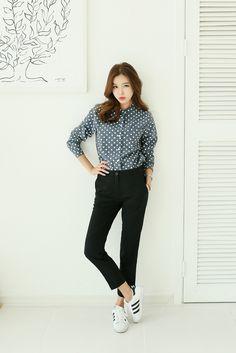 Polka Dots Cotton Shirt
