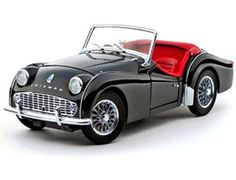 "The Kyosho Triumph TR3A Black, is a diecast model car from this superb diecast model manufacturer, in 1/18th scale.    Kyosho pride themselves on making quality, highly detailed die cast collectibles of the world's most sought after automobiles.    From a classic Mini to a sleek Audi, every model has the same amount of ""behind the scenes"" work done to ensure everything is correct, compared against the original."