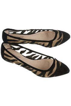 "I love these! Very classy, sophisticated take on zebra print - not so ""loud"" but definitely sleek"
