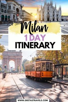 Milan 1 Day Itinerary. Milan is one of the most popular cities in Italy. Find out the best things to do, places to see and where to eat if you only have one day in Milan with this perfect Milan 1-day itinerary (written by a local!) #milan #italy #traveladvice #milaninoneday #milantraveltips #europe #milantraveladvice Cities In Italy, Italy Travel Tips, Responsible Travel, 1 Day, Milan Italy, Cheap Travel, Amalfi Coast, Culture Travel, Travel Advice