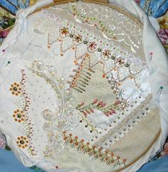 Crazy Quilting and Embroidery Blog by Pamela Kellogg of Kitty and Me Designs: Wedding Mystery Project Continued