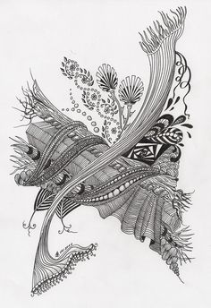 Beautiful tangles by Simone Bischoff.