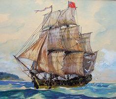 18th century passenger ship ticket | 18th Century British Merchant Ships