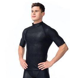 SBART New Rash Guard Surfing T-Shirts Men Beach Swimwear Short Sleeve  Shirts Sunscreen Diving f1620bb81c0