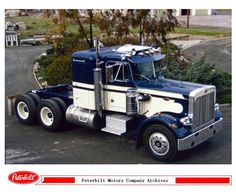 Peterbilt, Caterpillar, Customised Trucks, American, Cars, Heavy Duty Trucks, Vehicles, Semi Trucks, Tractors
