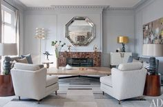 Room designed by Jean Louis Denoit and featured in Architectural Digest