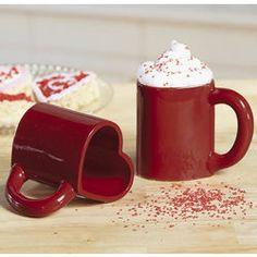 Red Heart Mug Set