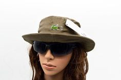 Mens / Womens Unisex Lacoste The Classic Crocodile Embroidery Logo Fisherman Adjustable Bucket Hat - Khaki Lacoste Store, Mlb Baseball Caps, Animal Print Outfits, Knit Beanie, Crocodile, Bucket Hat, Hip Hop, Unisex, Embroidery