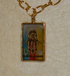Hamsa or Evil Eye Pendant Gold Necklace by creationsbylr on Etsy, $25.00