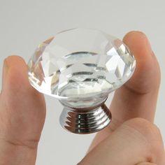 1 pc 40 mm diamante de cristal de vidro maçanetas gaveta do armário da cozinha puxar alças em Alças e Maçanetas de Melhorias na casa no AliExpress.com   Alibaba Group