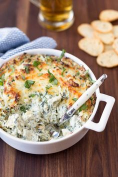 Thick, creamy, and loaded with flavor, this Spinach and Artichoke Dip has been a favorite of my friends and family for years.