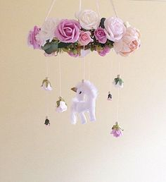 Baby mobile- unicorn baby mobile- floral mobile- nursery mobile- unicorn nursery mobile- baby girl mobile- floral chandelier unicorn mobile by thepoppettree on Etsy https://www.etsy.com/listing/518339599/baby-mobile-unicorn-baby-mobile-floral | Beautiful Cases For Girls
