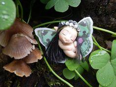 Ooak Miniature Tiny Sleeping Woodland Fairy  magic fairie sculpt handmade