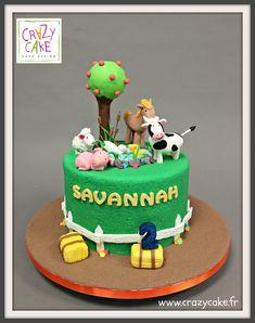 """Gâteau d'anniversaire """"Les animaux de la ferme"""""""
