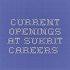 Current Openings at sukrit careers Business development executives for IT company Qualification - MBA / B.TECH Experience   - 0 - 2 yrs Job location  - Hyderabad Ctc               - 15k Interested candidates can contact us - 9030569911