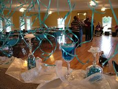 75th Birthday Party Ideas | These were the centerpieces for the tables. We had the plastic plates ...