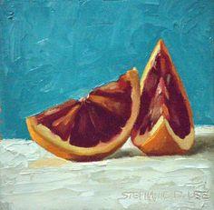 diy agate art framed blue agate slices dans le lakehouse.htm blood orange art  blood orange art