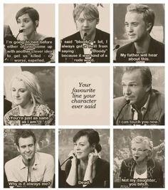Harry Potter cast member's favourite lines.