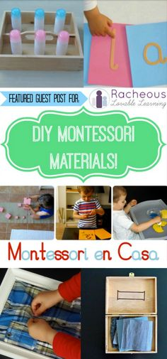 NEW! DIY Montessori Materials with Montessori en Casa! | Racheous - Lovable Learning
