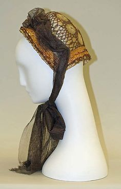 1880s ... Bonnet ... silk ... French ... at The Metropolitan Museum of Art ... photo 2