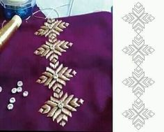Embroidery Neck Designs, Hand Embroidery Videos, Embroidery Suits Design, Bead Embroidery Patterns, Embroidery On Clothes, Embroidery Works, Couture Embroidery, Embroidery Fashion, Beaded Embroidery